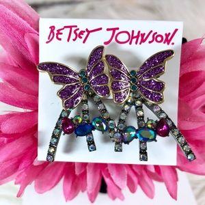 Betsey Johnson Butterfly Blitz Front Back Earrings